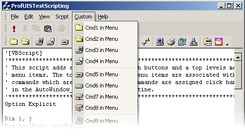 MFC Prof-UIS GUI Articles - Scripting Support in Prof-UIS
