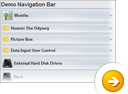 Navigation Bar Sample