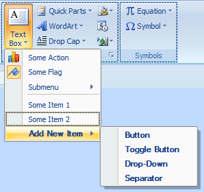 Elegant Ribbon Pop-up menu in Visual Studio designer