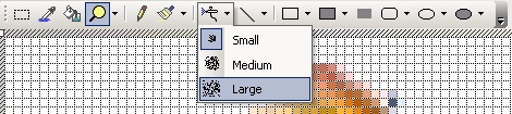 Drop-down button in a toolbar