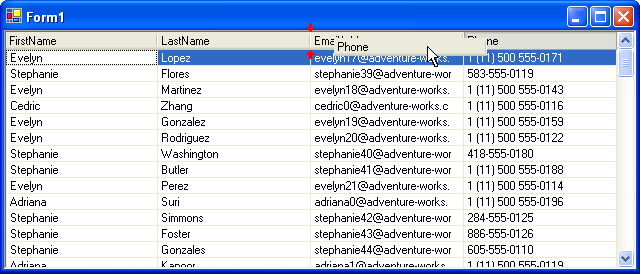.NET Elegant Grid: Reordering a column with the mouse