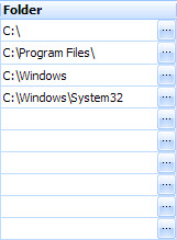 File path (folder) grid cell