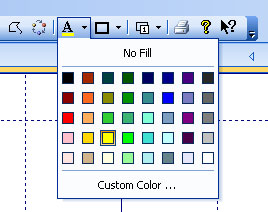 Color picker button in a toolbar