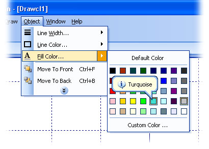 Color selection menu similar to that in Microsoft Office