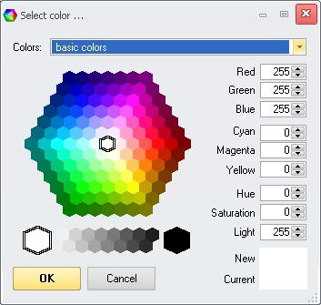 Prof-UIS: Color selection dialog box 1