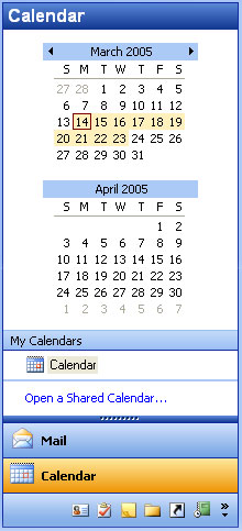 MFC Prof-UIS Date Picker: Outlook-like style