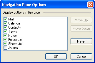 Page Navigator's Options dialog