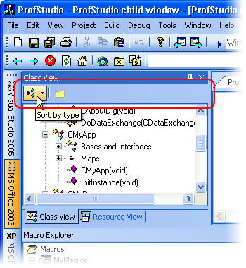 MFC Prof-UIS: Non dockable toolbar in the Class View control bar