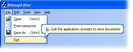 MFC Prof-UIS menu bar: Windows 2000-like balloon tooltip