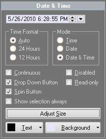 MFC Prof-UIS Date and Time Picker Control: General look