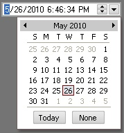 MFC Prof-UIS Date & Time Picker: Embedded pop-up date picker menu
