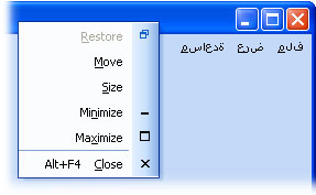 MFC Prof-UIS RTL Support: System menu