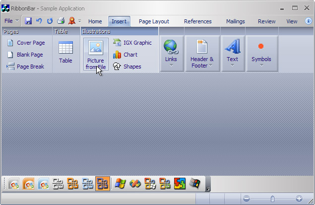 Ribbon Bar: R1 theme on Windows XP